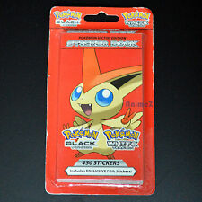 Official Pokemon Black and White Victini Edition Sticker Book - 450 Stickers!