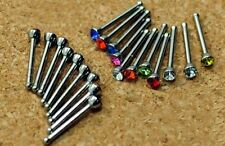 20 x Nose Stud Bar Steel Rhinestone Bone Bars Body Piercing Jewellery Makeup -UK