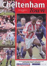 Football Programme>CHELTENHAM TOWN v ROCHDALE Mar 2002