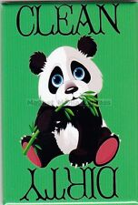 METAL DISHWASHER MAGNET Image Of Panda Bear Clean Dirty Dishes Kitchen MAGNET X