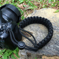 Strong camera adjustable wrist lanyard strap grip weave cord for para cor wr