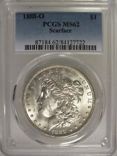 1888-O Morgan Silver Dollar $1 Coin PCGS MS 62 Certified SCARFACE - JY209