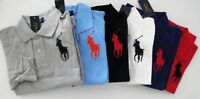 NWT Ralph Lauren Boys L/S Big Pony Solid Mesh Polo Shirt 8 10/12 14/16 18/20 NEW