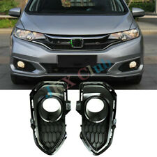 For Honda Fit Jazz GK5 2018 LH+RH 2X ABS Front Fog Lamp Light Cover Lampshade j