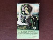 B1K postcard ww1 song card let me return to dreamland no 3 kingdom used