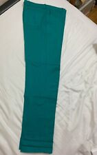 American Apparel Mens Teal Green Travel Pants Trousers Size 33