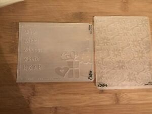 2 Sizzix Embossing Folders. Invitation And Daisy Scrolls. Gently Used.