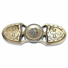 Bi-Cross Shield Gold Colored Metal Zinc Alloy Fidget Spinner -Trusted USA Seller
