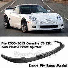 For 05-13 Chevrolet Corvette C6 Z06 Front Lip Kit ZR1 Style Splitter Bumper ABS