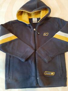 Nike Zip-up Hoodie Boys Large size EU 116-128 Blue/Yellow Trim - All Season