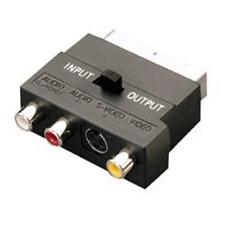 Adaptateur Peritel Mâle = 3 RCA 2 Audio + 1 Vidéo ) S/Vidéo Sélect Entrée Sotie