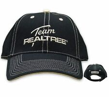 Team Realtree Deluxe Black Embroidered Hat - Retro Logo - Aa222Bk