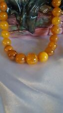 Baltic Amber Butterscotch Honey Bead Necklace 54.83 grams