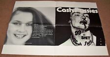 CASH PUSSIES STUNNING U.K. RECORD COMPANY PROMO POSTER '99% IS SHIT' SINGLE 1979