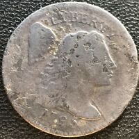 1795 Large Cent Liberty Cap Flowing Hair One Cent Better Grade Rare  #7579