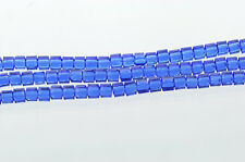 10 Crystal CUBE Beads, Precision Cut, Transparent SAPPHIRE BLUE 6mm bgl0612