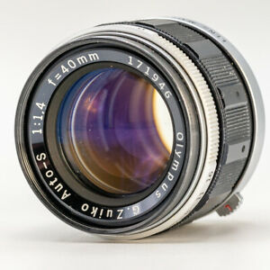 Olympus G Zuiko Auto-S 40mm f/1.4 MF Lens for PEN F FT FV