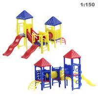 GY17150 2 sets Model Train Railway Playground Equipment 1:150 N Scale recreation