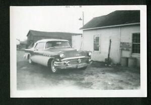 1956 Buick Roadmaster Convertible Car at Shepherds Home Vintage Photo 449151
