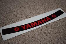 Yamaha Visor Helmet Sunstrip Sport Racing Motorbike Bike Decal Sticker Black R