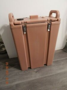 Cambro 500LCD Camtainer Insulated Beverage Dispenser 5 Gallon Hot-Cold Lt Brown