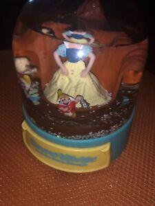 Disney Snow White And Seven Dwarfs Musical Snow Globe Junk Drawer