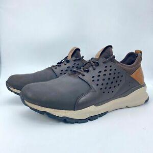 Skechers Mens Relven Hemson 65732W Black Leather Lace Up Sneaker Shoes Size  13