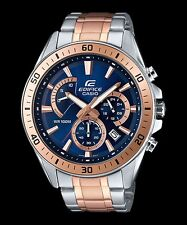 EFR-552SG-2A Blue Rose Gold Casio Men's Watches Edifice Date Day 24h 100m New