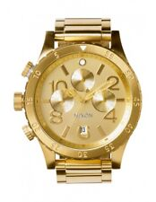 *NEW* NIXON 48-20 A486-502 WATCH MENS GOLD TONE CHRONO - NEXT DAY DELIVERY