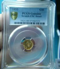 1853 G$1 PCGS One Dollar Liberty Head Gold Coin #4093