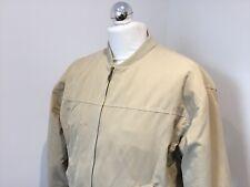 Mens Savatini Designer Quilted Short Bomber Jacket Beige Med Smart Casual Vgc