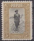 Papua 1932 Mint Mounted 5/- Black & Olive Brown SG143 Cat £70