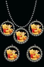 Winnie the pooh Bottle Cap Necklaces great party favors lot of 10 really cute