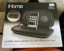 iHome Portable Speakers for Your iPod and iPhone (black) NIB iP29BB