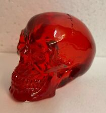 Small Translucent Red Clear Skull Head Bust Figurine Figure Cool Project Idea