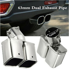2.5inch/63mm Car Rear Dual Exhaust Pipe Tail Muffler Tip Stainless Steel Chrome