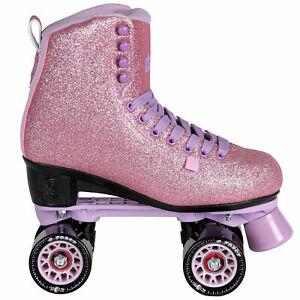 Chaya Melrose Rollschuhe Rollerskates Skates Retro Roll-Schuhe Glitzer Rosa NEU