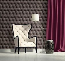 Vlies Tapete Design Leder Muster Optik Samt grau braun edel Polster stepp optik