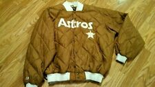 Vintage Houston Astros Quilted Jacket. Gold. Size 3X. Cooperstown Majestic