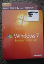 Microsoft Windows 7 Home Premium Upgrade Family Pack (3-User) factory sealed