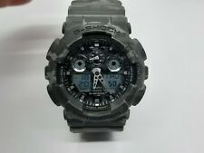 Casio G-Shock Protection Grey Camouflage 5081 GA-100CM Fully Working