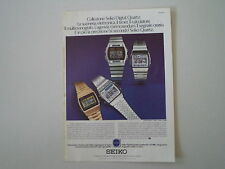 advertising Pubblicità 1979 SEIKO DIGITAL QUARTZ