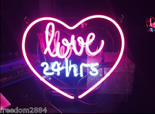 TN151 Love 24hrs Home Poster Room Wall Display Decor Neon Light Sign LED 15x10