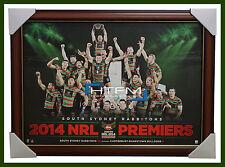 2014 NRL Champions South Sydney Rabbitohs Poster Framed Greg Inglis Sam Burgess