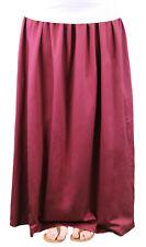 9 FASHION Maternity Orina Wine Satin Finish Maxi Skirt Sz S $79 NWT