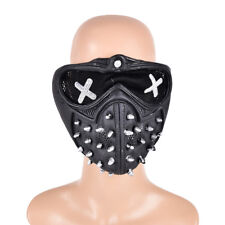 Game Watch Dogs2 Marcus Holloway Wrench Cosplay Mask Gothic Rivet Half Face HJB