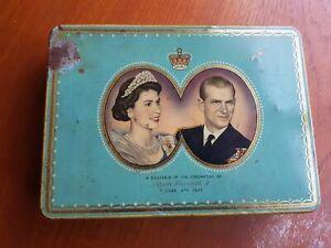 Souvenir Tin of the Coronation of Queen Elizabeth II, 2.6.1953 Chiltonian