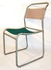 32 Available Vintage Tubular Steel & Canvas Stacking Chairs - Kitchen Church