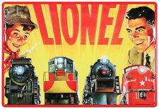 Lionel Trains Father and Son Tin Sign - 10.5x15