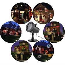 Moving LED Laser Projector Lamp Christmas Xmas Snowflake Garden Decor Waterproof